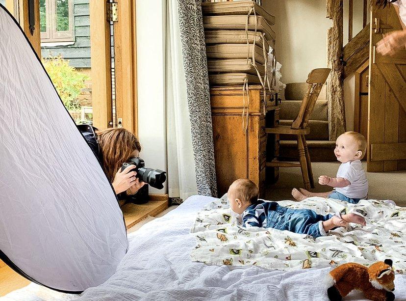 baby boys at photoshoot